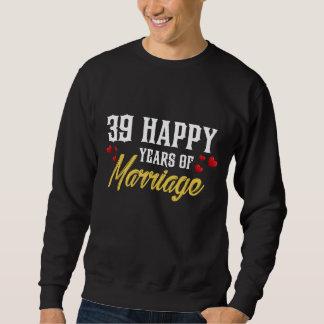 Moletom 39th presente feliz do aniversário para a esposa