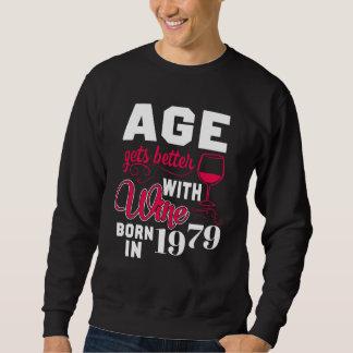 Moletom 39th T-shirt do aniversário para o amante de vinho