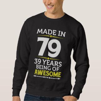 Moletom 39th Traje do presente de aniversário por 39 anos