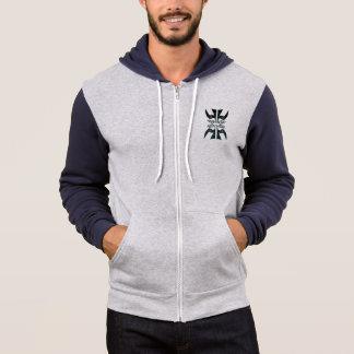 Moletom 4 pássaros da paz zippered o hoodie
