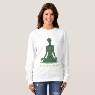Moletom 4o Afirmação verde de Anahata do coração de Chakra