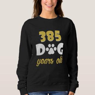 Moletom 55th Traje do aniversário para o amante do cão