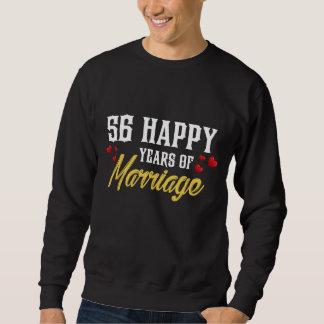 Moletom 56th presente feliz do aniversário para a esposa