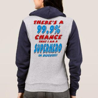 Moletom 99,9% Eu sou um SUPER-HERÓI (o preto)