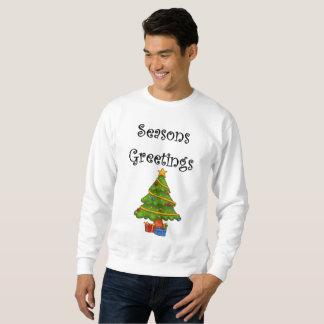 Moletom A árvore de Natal tempera cumprimentos