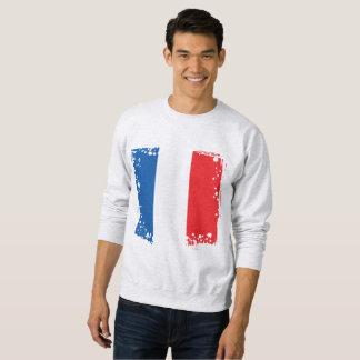 Moletom A bandeira abstrata de France, francês colore o