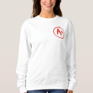 Moletom A+ Branco da camisola de H.E.L.P.S 72marketing