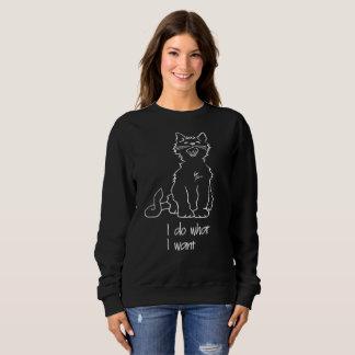 Moletom A camisola básica das mulheres do gato do suor