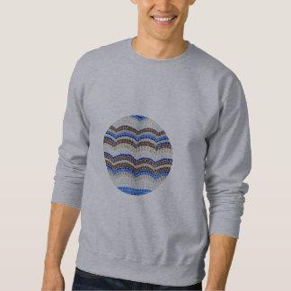 Moletom A camisola básica dos homens azuis redondos do
