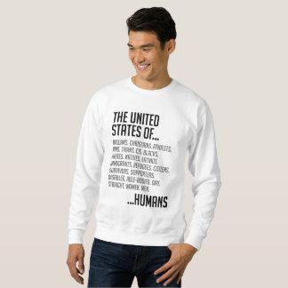 Moletom A camisola básica dos homens dos Estados Unidos