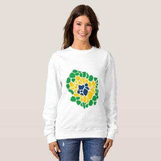 Moletom A camisola das mulheres brasileiras de flower