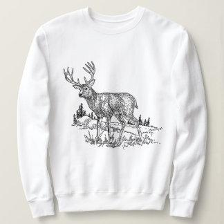 Moletom A camisola das mulheres clássicas dos cervos da