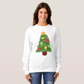 Moletom a camisola das mulheres dos emojis da árvore de