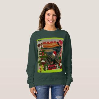 Moletom a camisola das mulheres feias do Natal do gritar