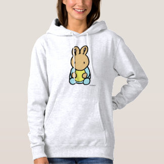 Moletom A camisola encapuçado das mulheres doces do coelho