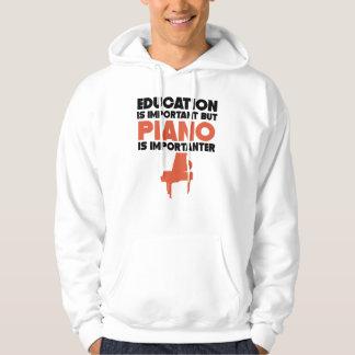 Moletom A educação é importante mas o piano é Importanter