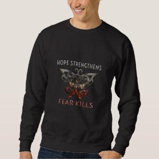 Moletom A esperança reforça a camisola dos homens