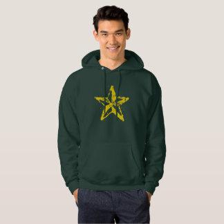 Moletom A estrela vermelha usada dos homens camisola