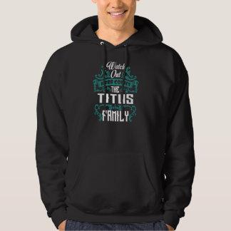 Moletom A família de TITUS. Aniversário do presente