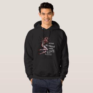 Moletom A sereia reversa precisa o hoodie preto do amor