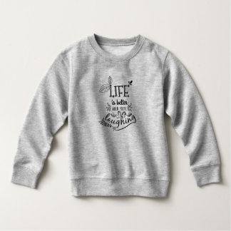 Moletom A vida é melhor quando você está rindo a camisola