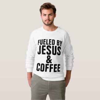 Moletom ABASTECIDO t-shirt pelo cristão de JESUS E de CAFÉ