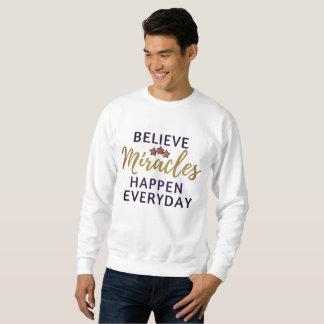 Moletom Acredite, milagre acontecem camisola longa diária
