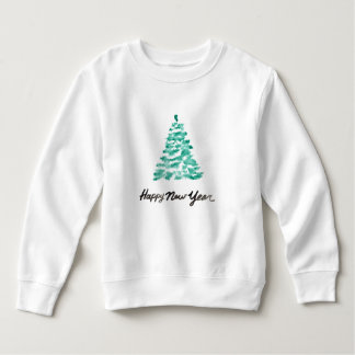 Moletom Aguarela do Natal | - árvore do verde do ano novo