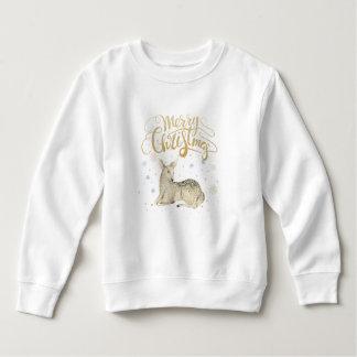 Moletom Aguarela do Natal | - cervo bonito do inverno