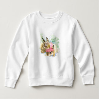 Moletom Aguarela do Natal | - coelhos da floresta do