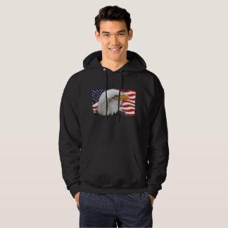 Moletom Águia americana patriótica e Hoodie da bandeira