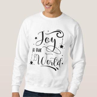 Moletom Alegria à camisola do Natal da palavra