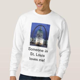 Moletom Alguém em St Louis ama-me camisola