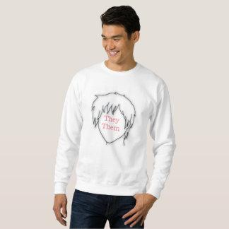 Moletom Anime eles eles camisola do pronome