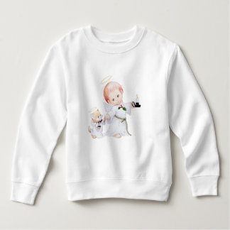Moletom Anjo bonito e gato do bebê