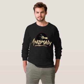 "Moletom ""Anomalia"" da camisola do preto da fonte"