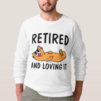 Moletom APOSENTADO E AMANDO O, t-shirt do gato