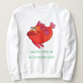 Moletom Arte lunática dos peixes da camisola feia do Natal