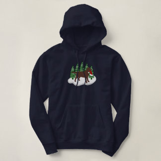 Moletom Árvores do Evergreen do Natal de Labrador do