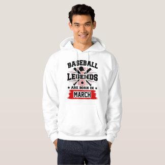 Moletom as legendas do basebol são nascidas em março