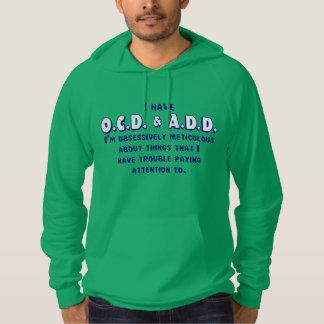 Moletom Azul/branco de OCD-ADD