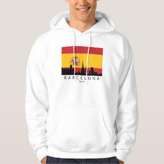 Moletom Bandeira do espanhol da skyline da espanha de