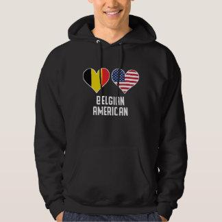 Moletom Bandeiras americanas belgas do coração