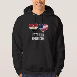 Moletom Bandeiras americanas egípcias do coração