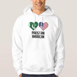 Moletom Bandeiras americanas paquistanesas do coração