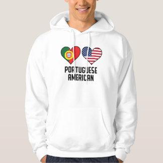 Moletom Bandeiras americanas portuguesas do coração