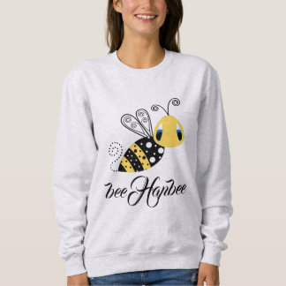 Moletom #Bee Hapbee - camisola básica da COR da CINZA das
