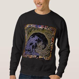 Moletom belas artes femininos de Hokusai da onda do 北斎