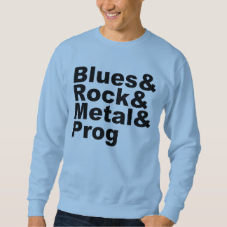 Moletom Blues&Rock&Metal&Prog (preto)