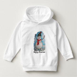 Moletom Boneco de neve lindo da aguarela com lenço e